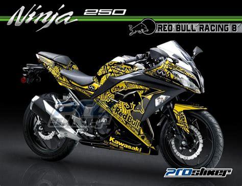 Decal Kawasaki Rr Mono 250cc Motif Redbull Racing Team striping modifikasi 250 fi hitam motif redbull racing 08 warna kuning prostiker stiker