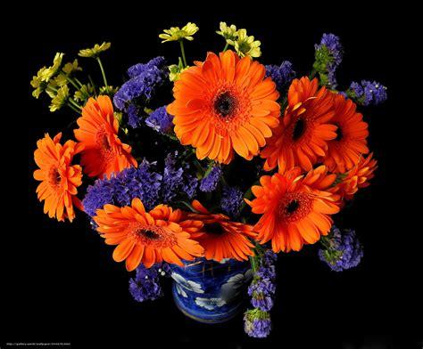 wallpaper vas bunga download wallpaper bouquet flowers vase black