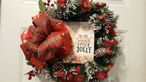 christmas items you tube wreaths easy dollar tree wreath 2017 decor