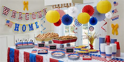 home interior parties products welcome home party supplies patriotic military party