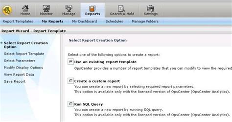 step by step how to create reports in ops center vox