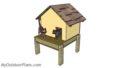 cat house building plans insulated cat house plans myoutdoorplans free woodworking plans and projects diy