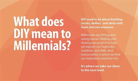 diy mean what does diy mean to millennials infographic visualistan