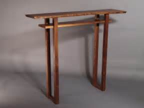 Small Narrow Console Table Small Console Table Or Narrow Table With Inset Shelf Modern Solid Wood Furniture