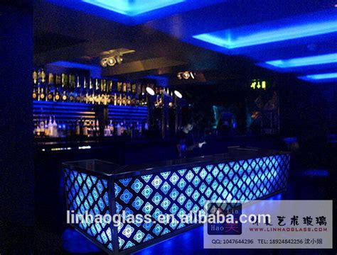 led bar top glass bar counter designs home and night club bar counter
