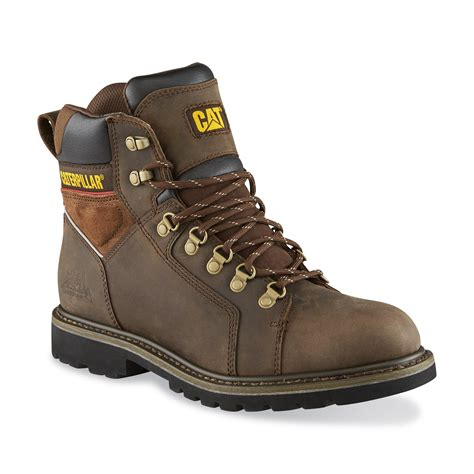 cat work boots for cat footwear s trax 6 quot brown waterproof soft toe work