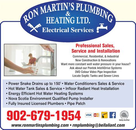 Martins Plumbing And Heating by Martin S Plumbing Heating Ltd Kentville Ns 913