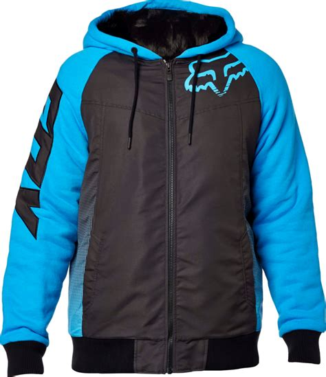 fox motocross hoodies fox racing mens dispatched sasquatch plush lined zip