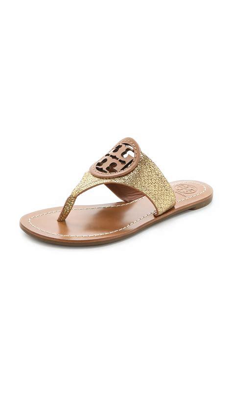 burch sandals burch louisa sandals goldnew in metallic lyst