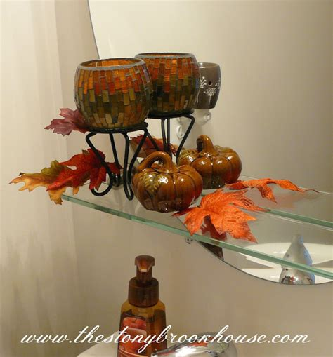 fall bathroom decor falling in love with fall the stonybrook house