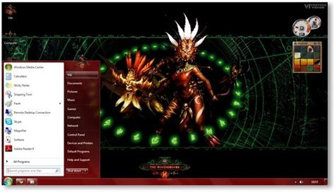pc themes vikitech diablo 3 theme for windows 7 and windows 8