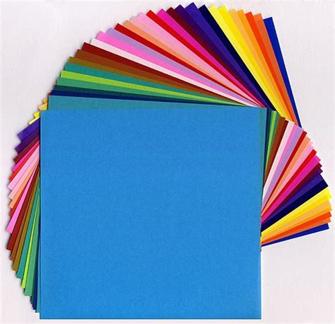 Solid Colored Origami Paper - 35 assorted bright solid color origami papers arts