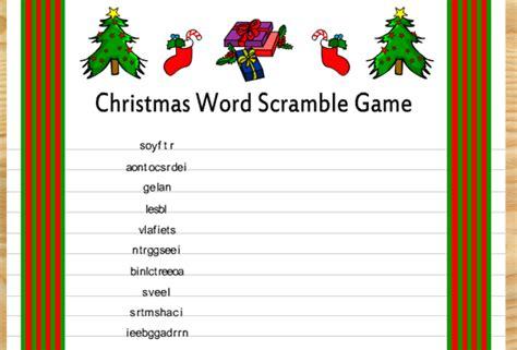 printable christmas word scramble with answers free printable christmas word scramble game