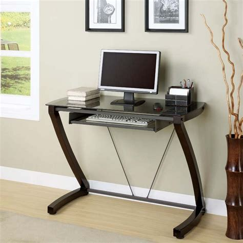 Narrow Desks For Small Spaces Glass Computer Desks For Small Spaces Amusing 40 Narrow Computer Table Decorating Inspiration Of