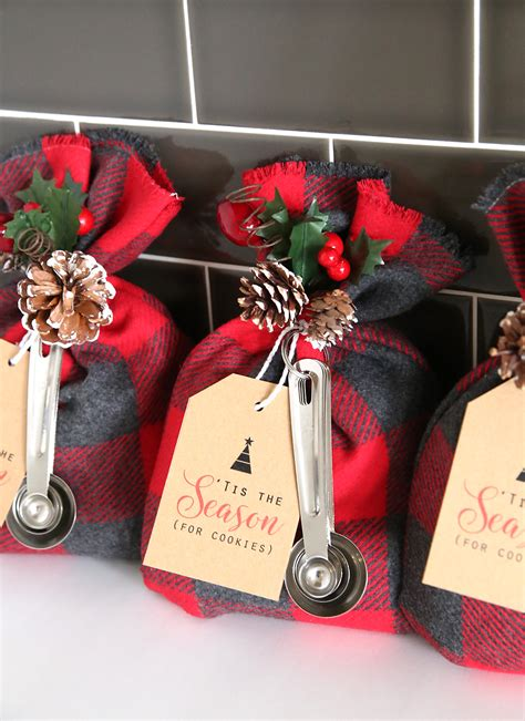 cookie mix gift sack easy diy christmas gift idea it s