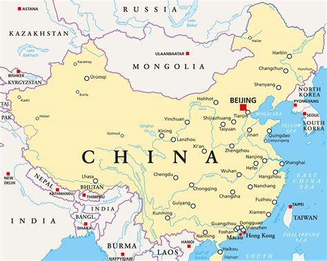 map of china guide of the world