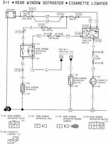 rear window defroster and cigarette lighter wiring diagram of 1994 mazda rx 7 circuit wiring