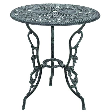 Cast Iron Bistro Chairs Table 2 Chairs Cast Iron Antique Green Bistro Set Garden Sofa Ebay