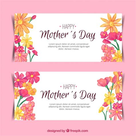 decoracion de fotos dia de la madre banners bonitos con decoraci 243 n floral para el d 237 a de la