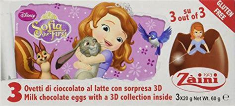 Zaini Chocolate Egg Sofia 1 x zaini disney sofia the chocolate egg treats with 3 per box made in italy shipping