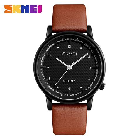 skmei jam tangan analog pria 1210 brown black jakartanotebook