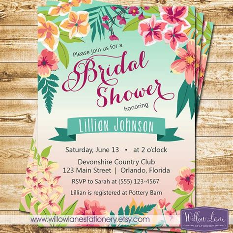 luau wedding invitations best 25 luau bridal shower ideas on tropical