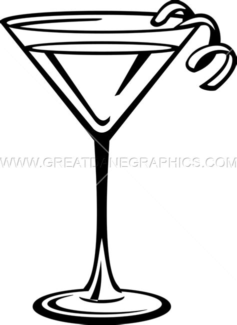 cocktail clipart black and white martini glass drink production ready artwork for t shirt