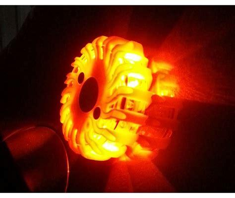 kit  plots led balise de securite routiere gyrophare orange  accessoires auto pieces