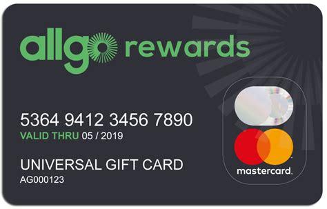 Universal Gift Card Company - allgo rewards gift card allgo