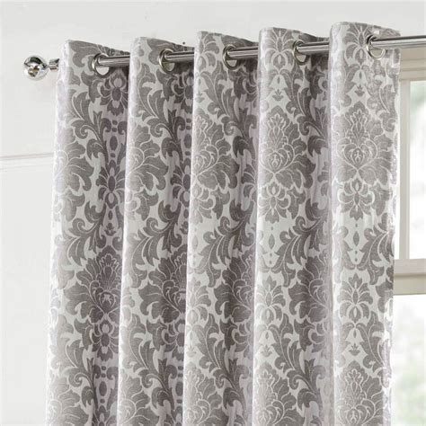 silver damask curtains camden silver jacquard damask 66 x 72 168 x 137 cm lined