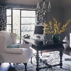 Office Chair Black Design Ideas Black And White Curtains Contemporary Den Library Office Burnham Design