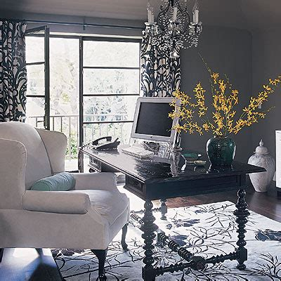 black and white home office decorating ideas black and white curtains contemporary den library office burnham design