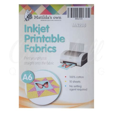 printable fabric sheets quilting inkjet printable fabric matildas own 10 sheets a6 size