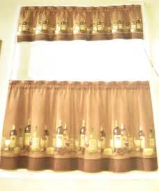 Decor and more wines tuscany 36l tiers valance kitchen curtains set