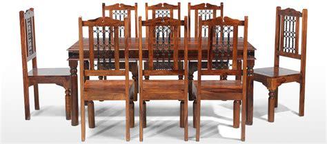 Jali Sheesham 200 Cm Thakat Dining Table And 8 Chairs Jali Dining Table And Chairs