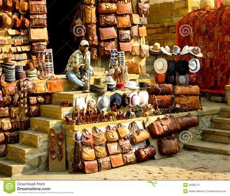 Handcraft Shop - leather handicraft shop jaisalmer editorial photo image