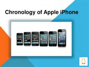 chronology of apple iphone