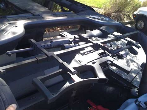jeep wrangler jk gun rack car interior design