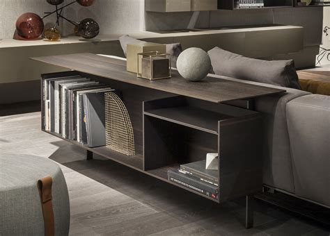 Low And Wide Bookcase Lema Yard Behind Sofa Storage Unit Lema Furniture From