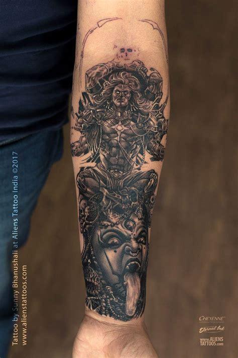 tattoo maker surat gujarat powerful shiva and mahakali tattoo by sunny bhanushali at