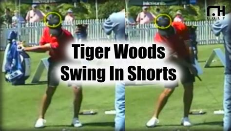 tiger iron swing tiger woods iron swing in shorts youtube