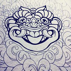 unyil tattoo bali barong boma bali culture indonesia by unyil tattoo