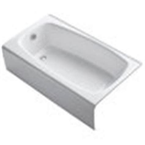 kohler seaforth bathtub shop kohler seaforth white cast iron rectangular skirted bathtub with left hand drain