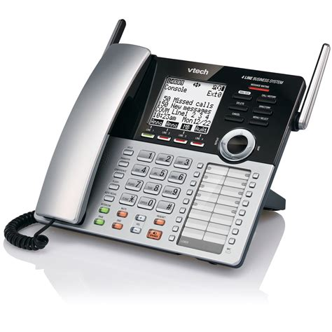 4 Phone System Vtech 4 Line Small Business System Console Cm18445 Vtech 174 Cordless Phones