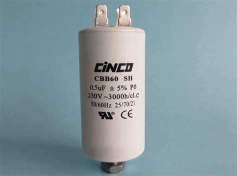 a 0 25 uf capacitor is charged to 50 v 0 5uf 250vac cbb60a motor run capacitors 4pins cinco capacitor china ac capacitors factory