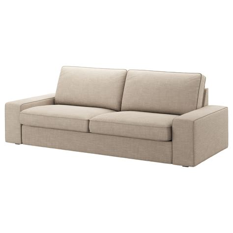 sofa kivik kivik three seat sofa hillared beige ikea