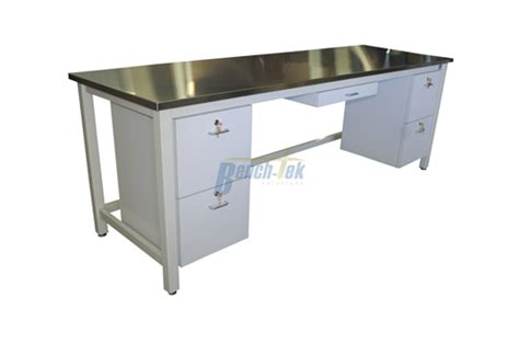 Steel Workbenches With Drawers stainless steel workbench with drawers bench tek solutions