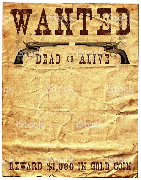 wild west wanted poster reward stock photo 174672308 istock