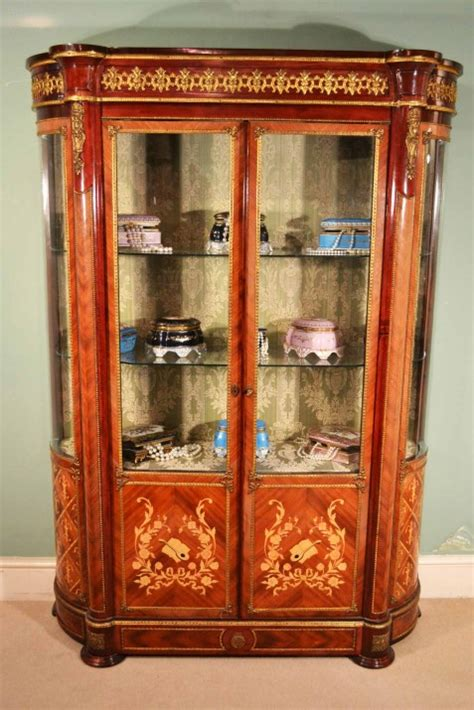 Regent Antiques   Display cabinets   Vintage Loius XV Marquetry Vitrine Display Cabinet