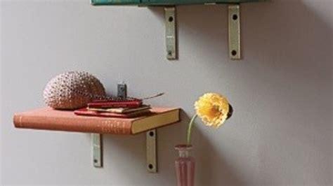 Rak Buku Melayang Bahan Besi Baja Murah tips membuat rak dari buku bekas